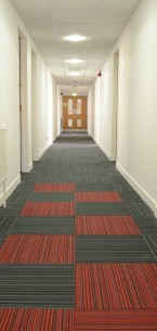 strands carpet tiles at University of Strathclyde in Glasgow