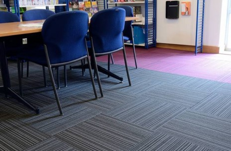 Wester Hailes Library Edinburgh - strands carpet tiles