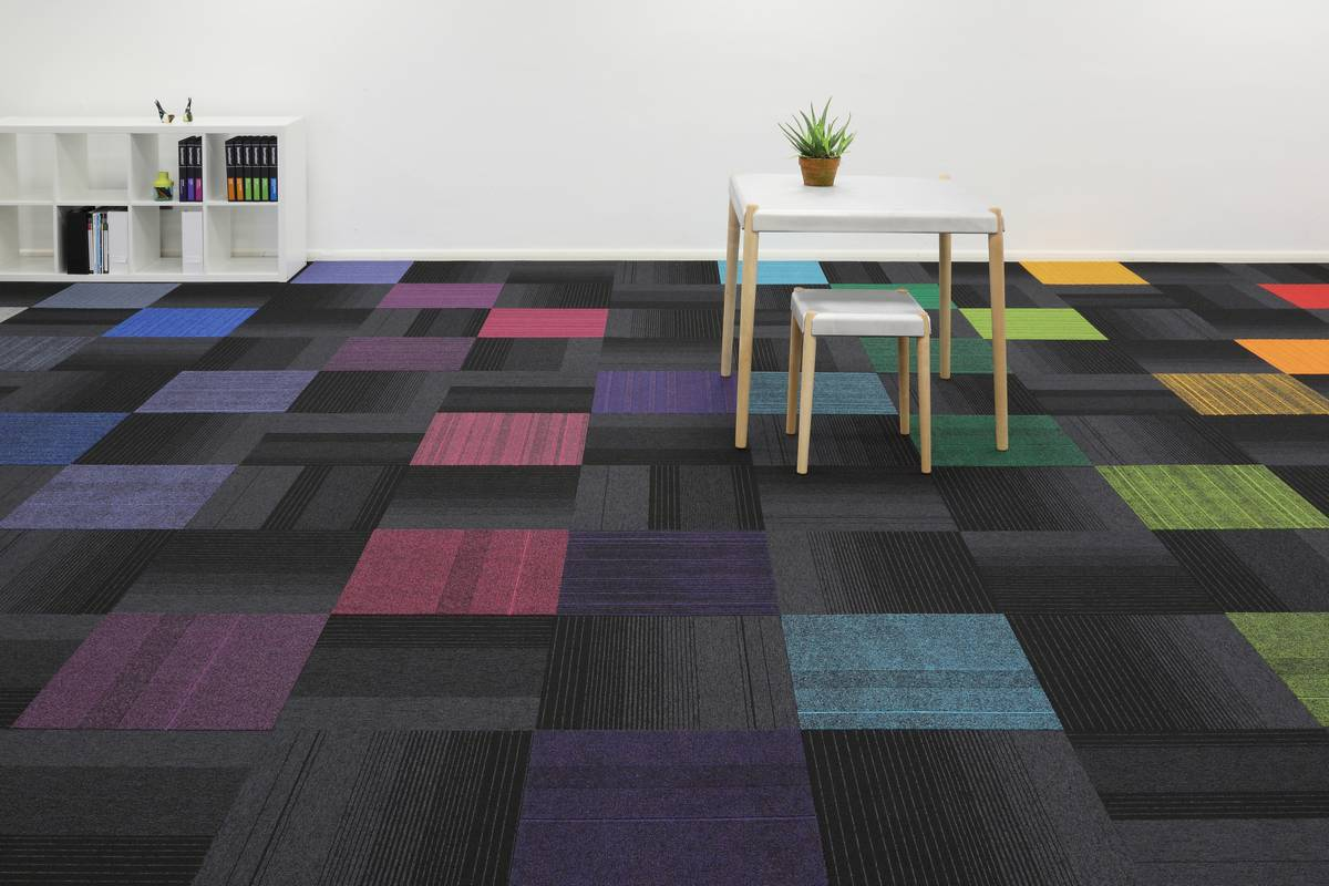 New Burmatex Carpet Tile Design Balance Echo
