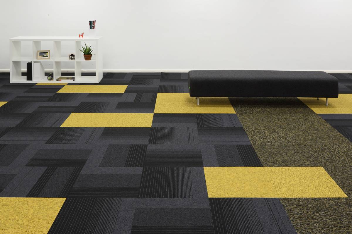Yellow Carpet Tiles And Planks From Burmatex 174