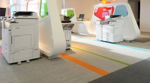Ricoh UK - lateral carpet tiles