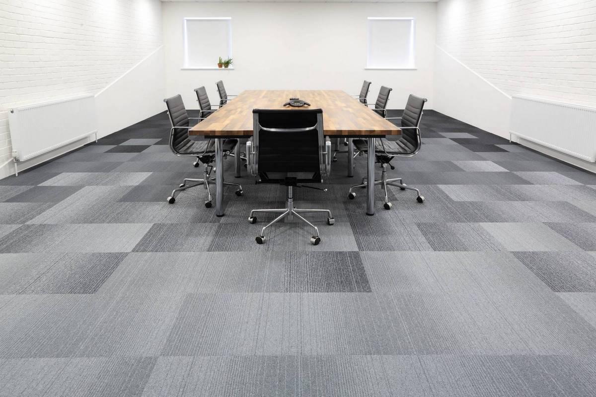 Image of: 08 Boardroom Tufted Loop Pile Grade Grey Purple Office Burmatex