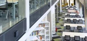 burmatex carpet tiles in Birmingham University Library