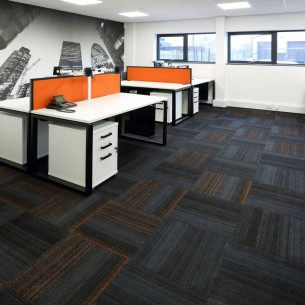 hadron papaya carpet tiles