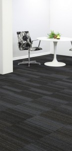 hadron titanium & starling carpet tiles