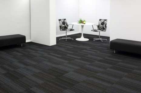 hadron titanium & starling carpet tiles
