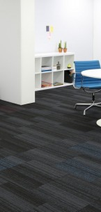 hadron titanium, cerulean & flamingo carpet tiles