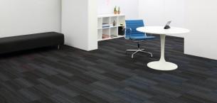 hadron titanium, cerulean & flamingo carpet tiles