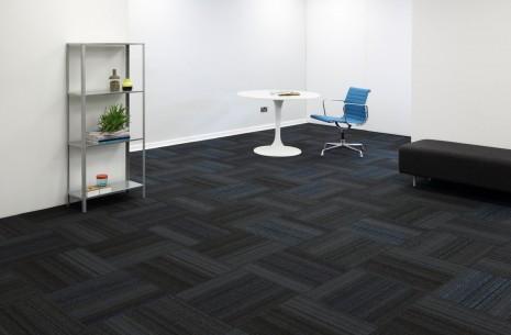 hadron cerulean & electric carpet tiles