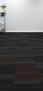 hadron titanium, crimson & sparkler carpet tiles