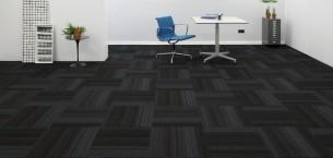 hadron titanium & violet carpet tiles