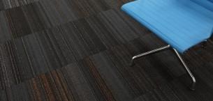 hadron papaya, starling & sparkler carpet tiles