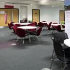 Sheffield Hallam University - balance stripe & strands carpet tiles