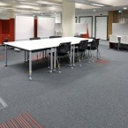 Sheffield Hallam University - balance stripe & strands carpet tiles