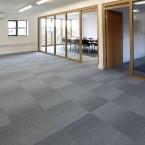 Waste Wise - grade silver carpet tiles