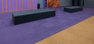 tivoli carpet tile at Jump 4 leisure centre