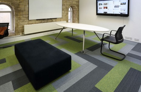 grade & tivoli carpet planks at DKA Architects