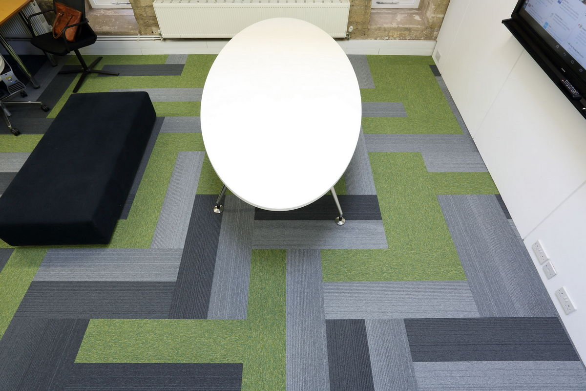grade & tivoli carpet planks at DKA Architects