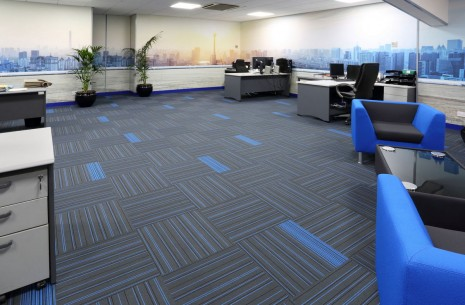 strands carpet tiles at Redditch Partitions