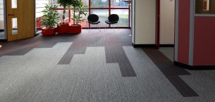 strands & tivoli carpet tiles at Redditch Partitions