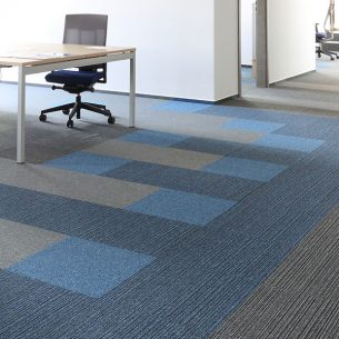 go to carpet tiles in office