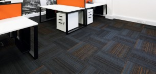 hadron carpet tiles at Quelfire offices
