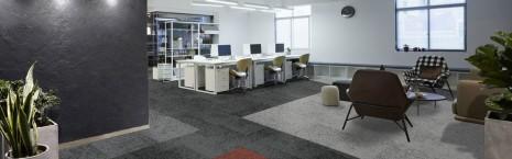 rainfall light, shade, dark & brick carpet tiles