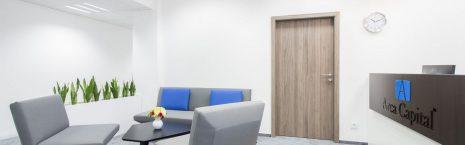 grey alaska carpet tiles in high end office