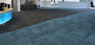Sheffield Hallam University rainfall carpet tiles