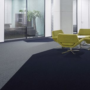 modern office with tivoli carpet tiles from burmatex