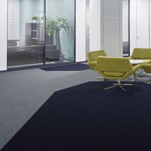 modern office with tivoli carpet tiles from burmatex