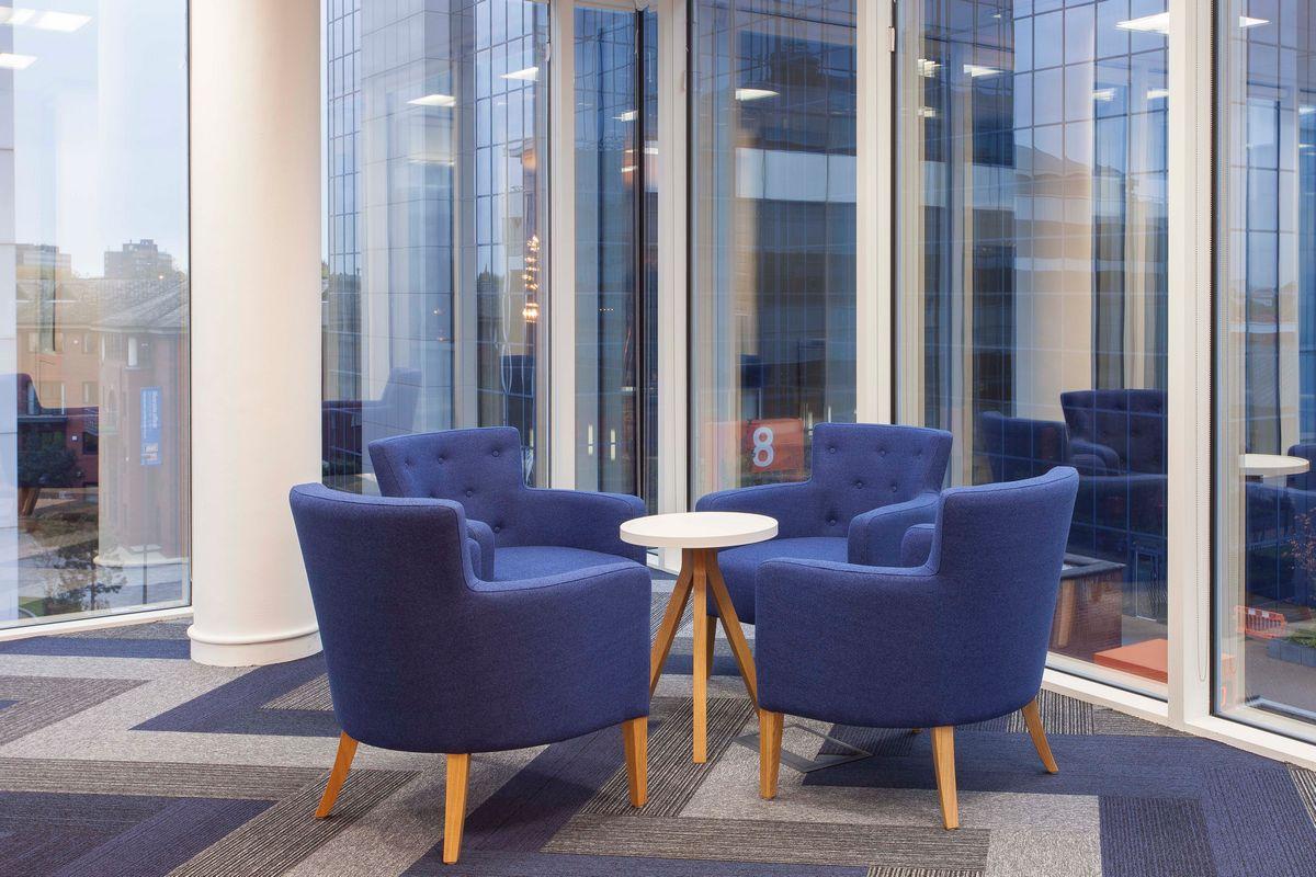 tivoli & grade carpet planks in office