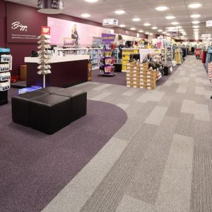 infinity carpet tiles & tivoli planks in retail
