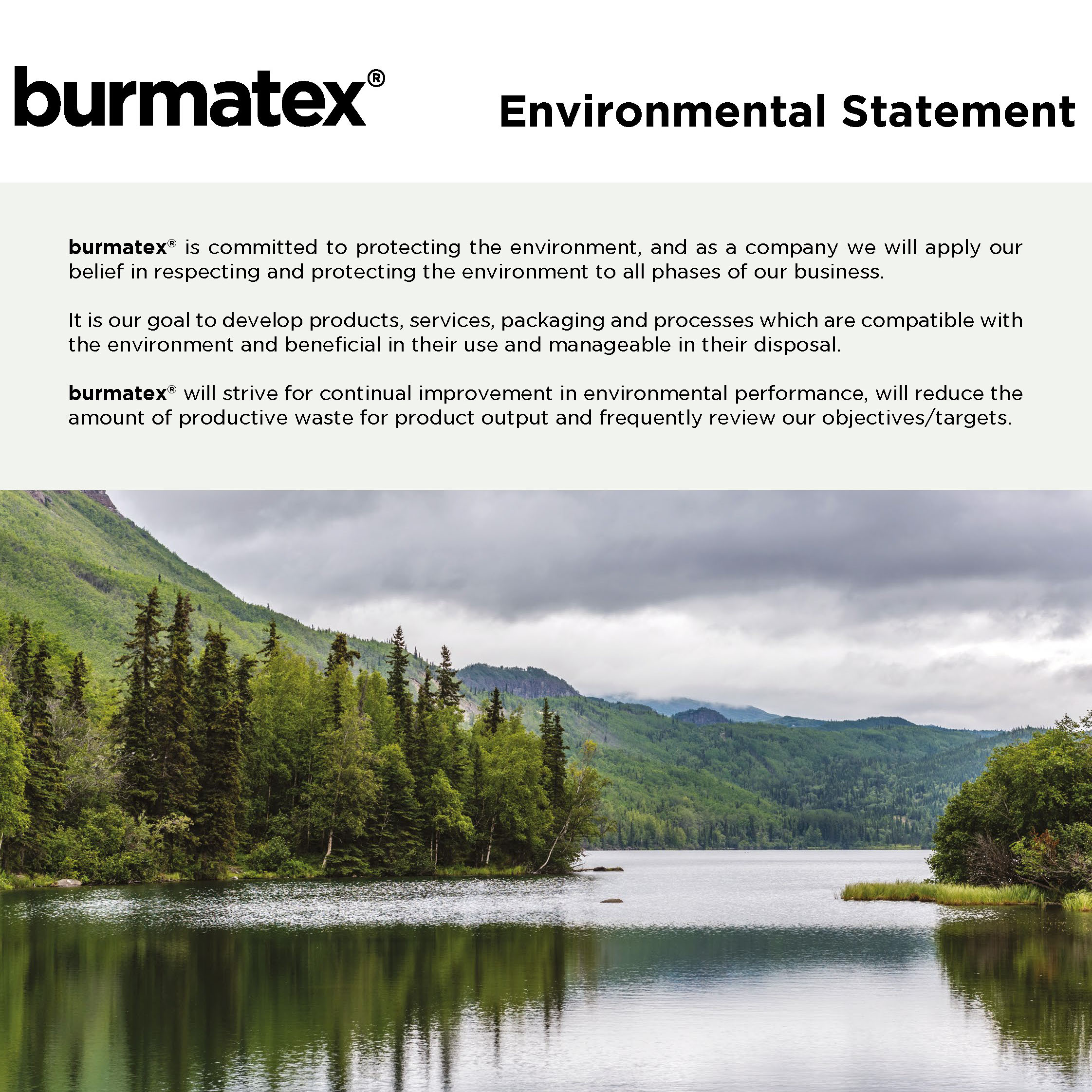 burmatex sustainability statement