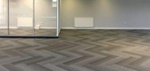 Cover Contracts office - tivoli mist carpet planks