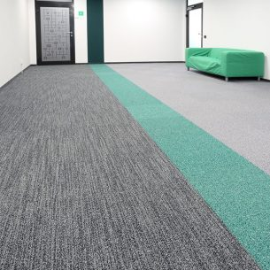 infinity carpet tiles in office