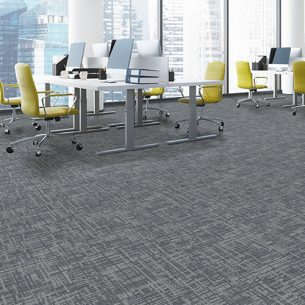 balance grid carpet tiles in office