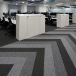 tivoli grey carpet planks in office Glasgow