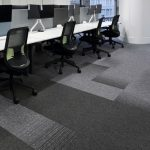 tivoli mist grey carpet tile in office Glasgow