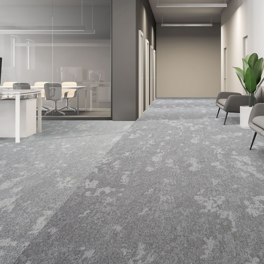 dapple carpet tiles cool breeze silver gleam