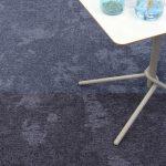 dapple carpet tiles midnight violet luminous blue